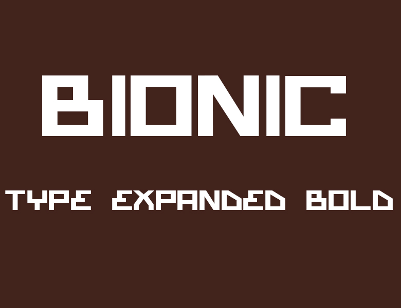 bionictypeexpanded字体下载