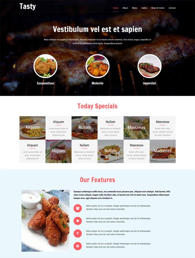 烧烤店加盟网站模板_免费模板