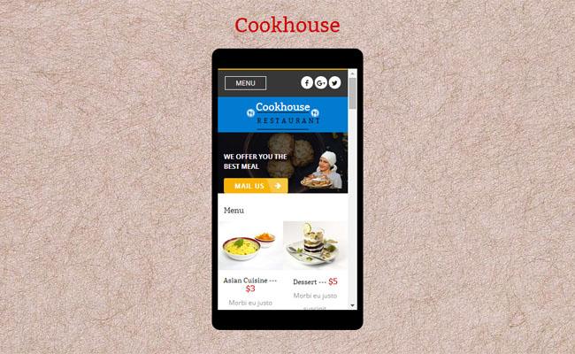 餐饮美食手机网站模板_免费模板