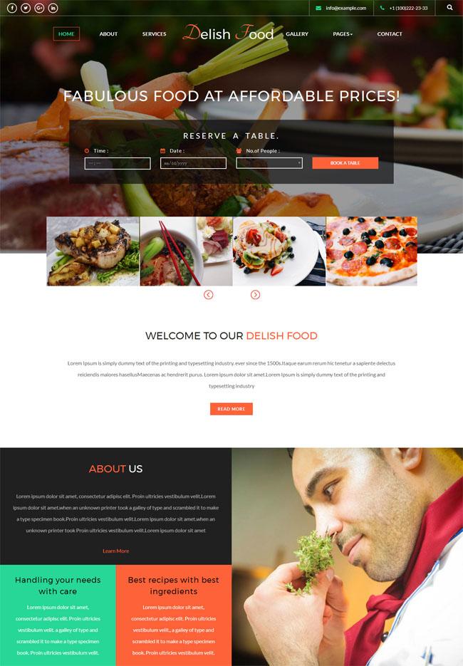 酒店餐馆官网网站模板_免费模板