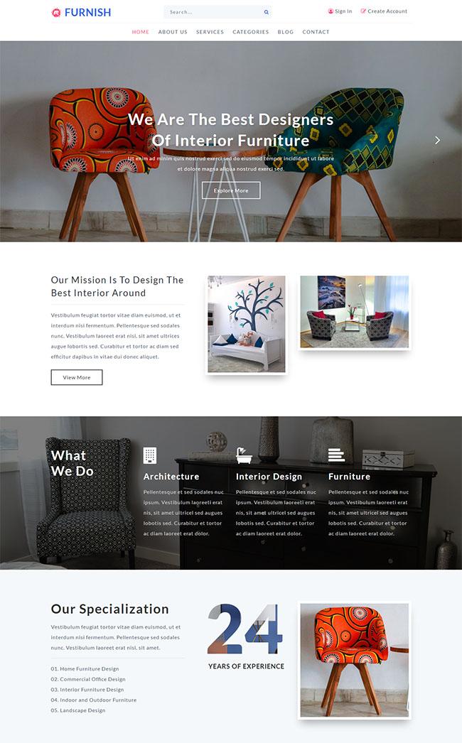 创意家具设计师网站模板