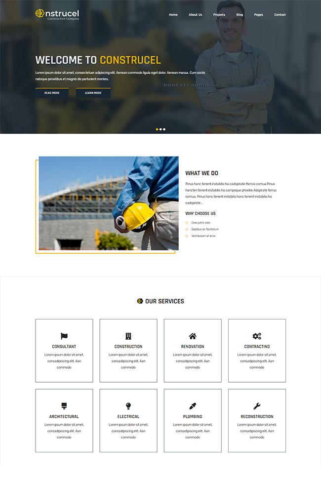 建筑行业公司网站模板