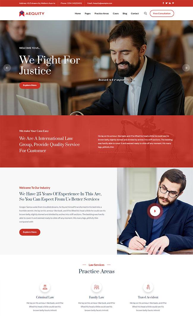 法律咨询服务公司网站模板