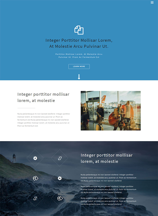 超大气简洁旅游网页模板