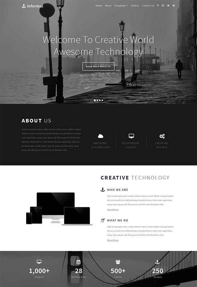 黑灰色多终端产品网站模板
