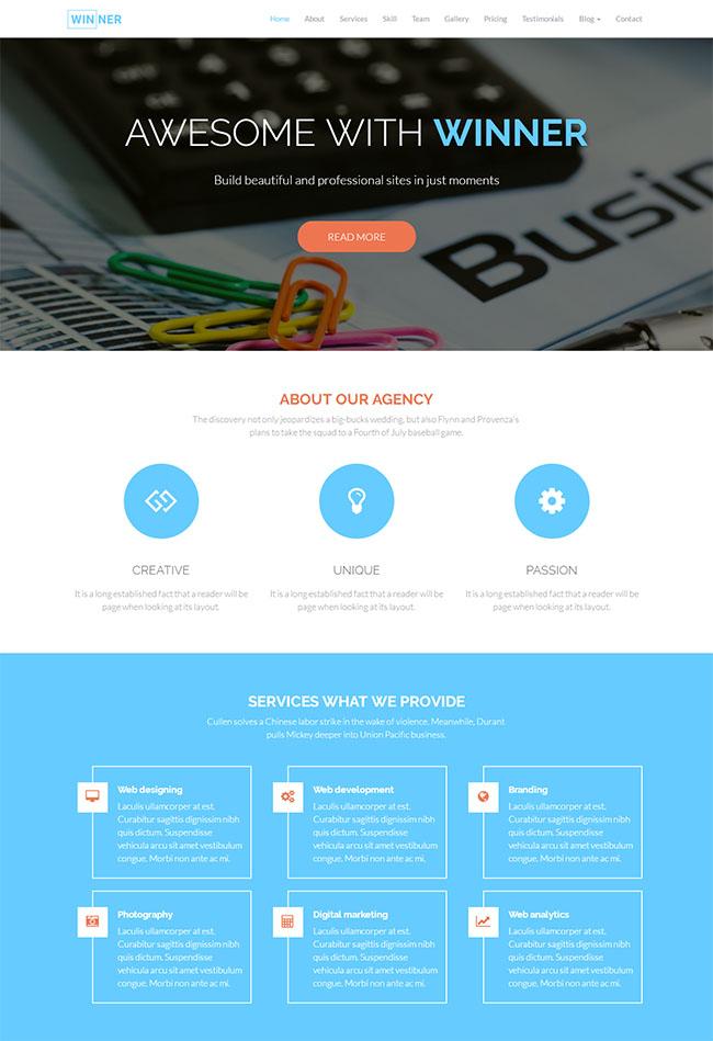 WEB APPS开发公司官网模板