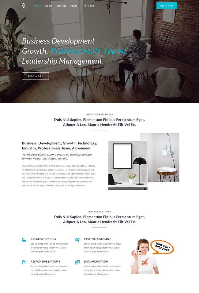 业务发展团队网站模板