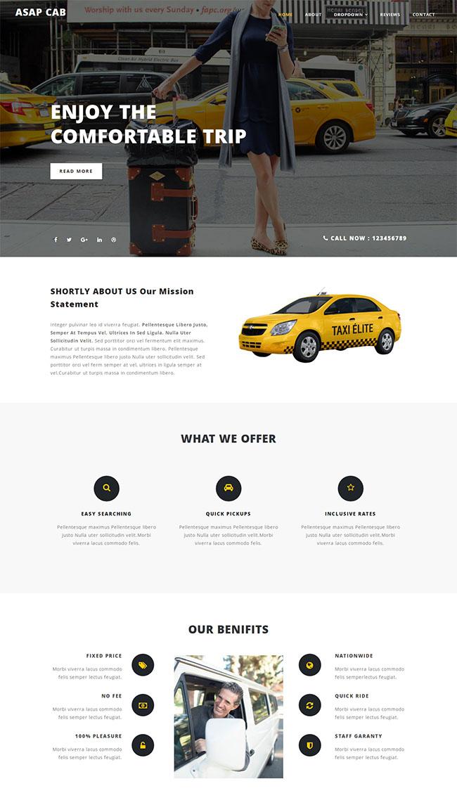 TaXi出租车活动专题网站模板