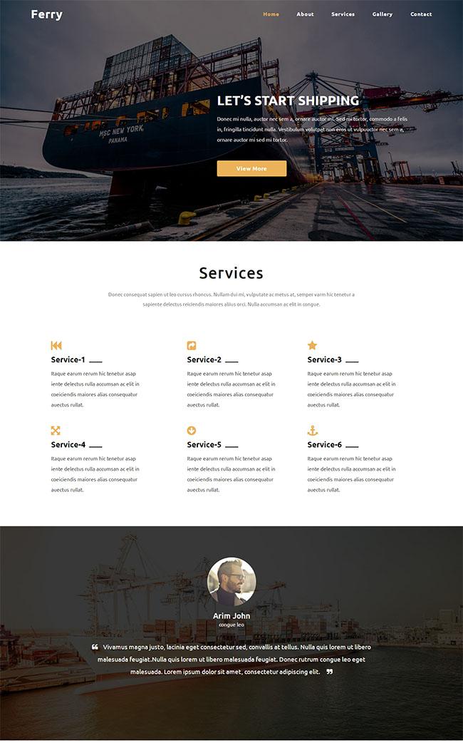 轮船装载货运公司模板