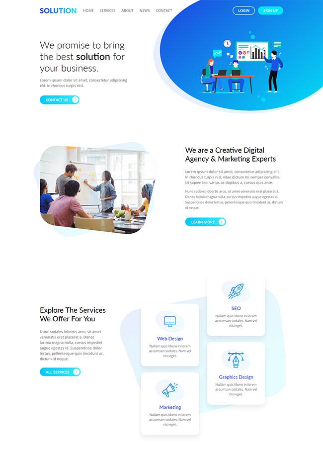大气炫彩设计公司网站模板