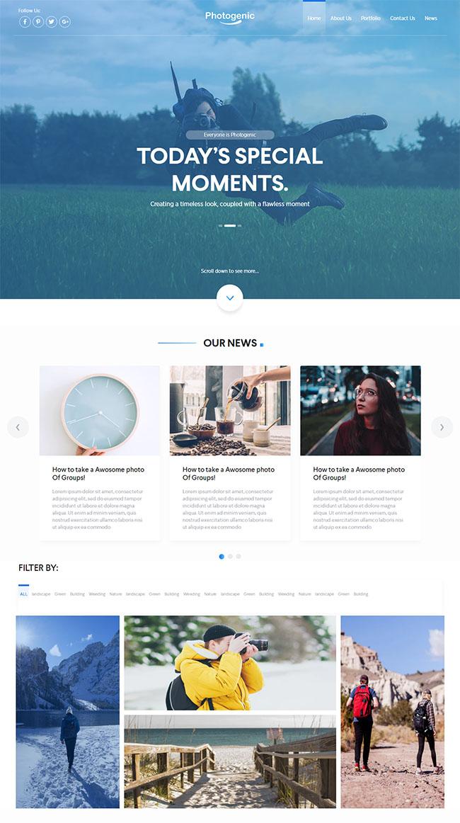 单人旅行拍照网站模板