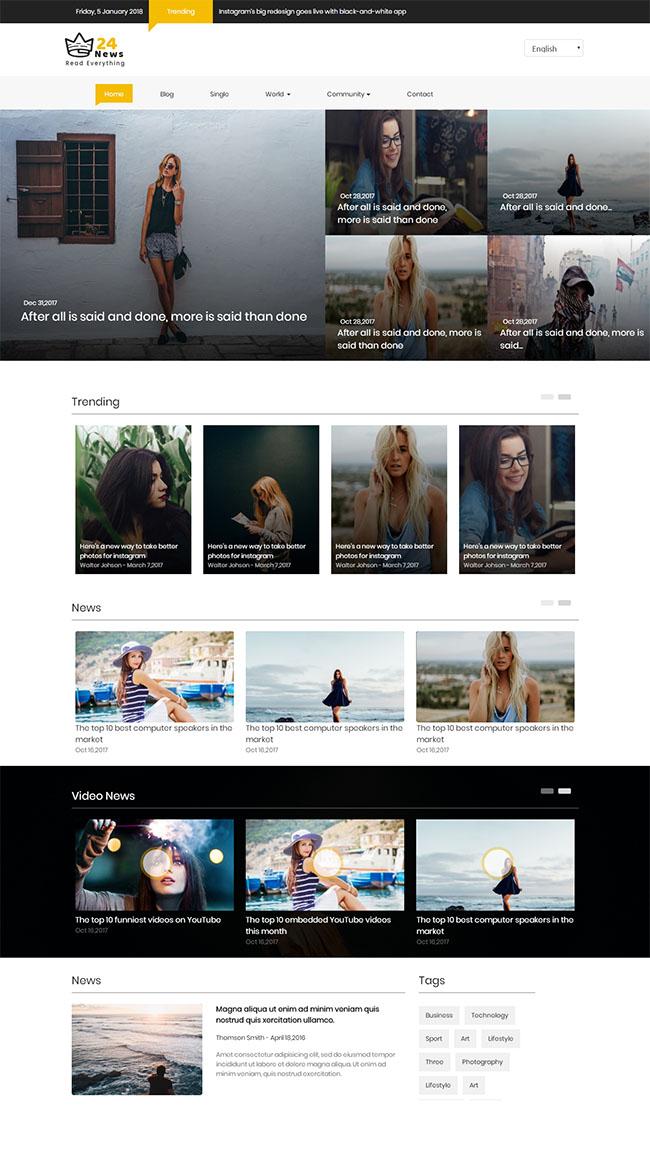 欧美图片分享网站模板