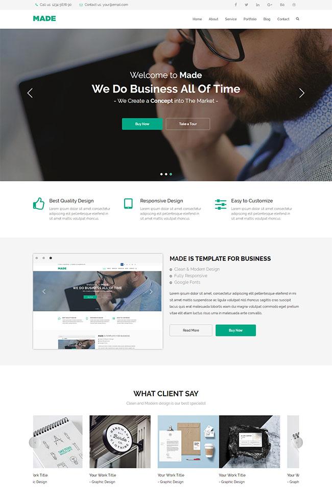 商务印刷广告设计网站模板
