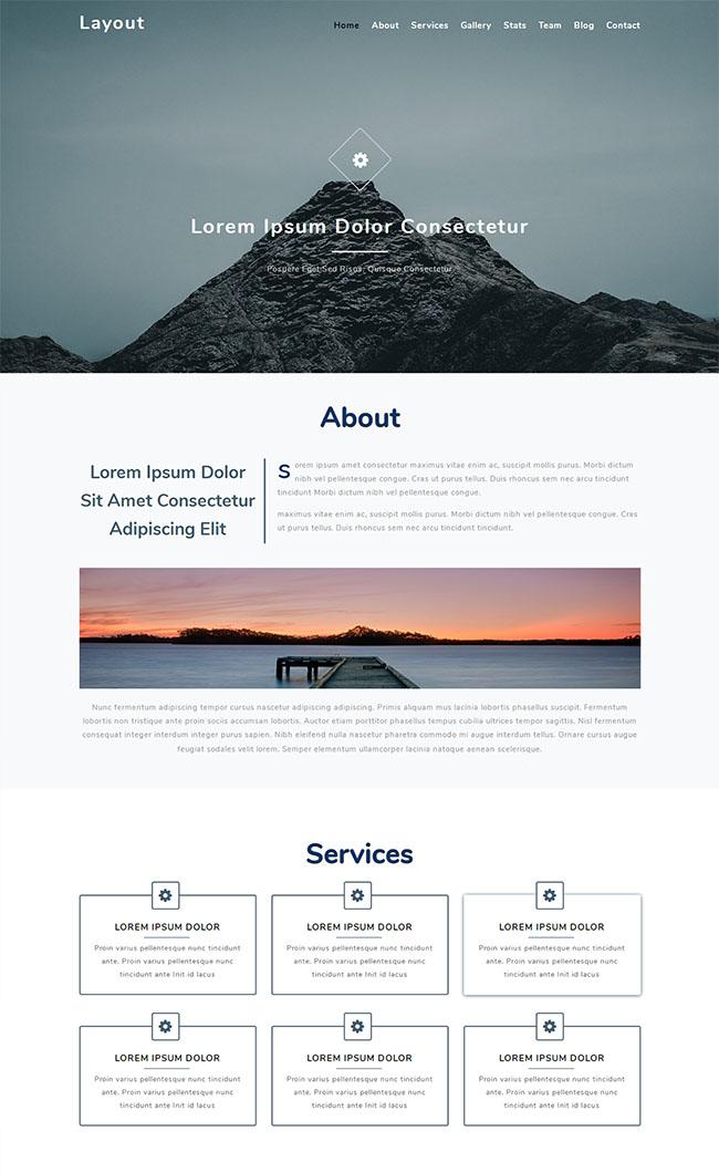 大气精品企业官网网站模板
