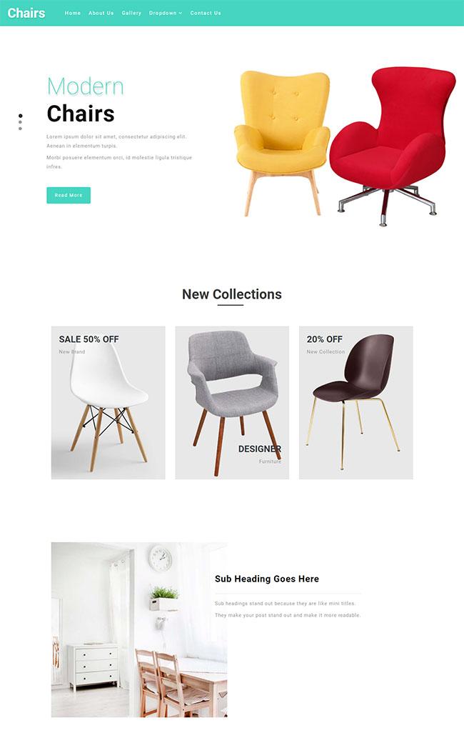 创意网红ins沙发企业网站模板