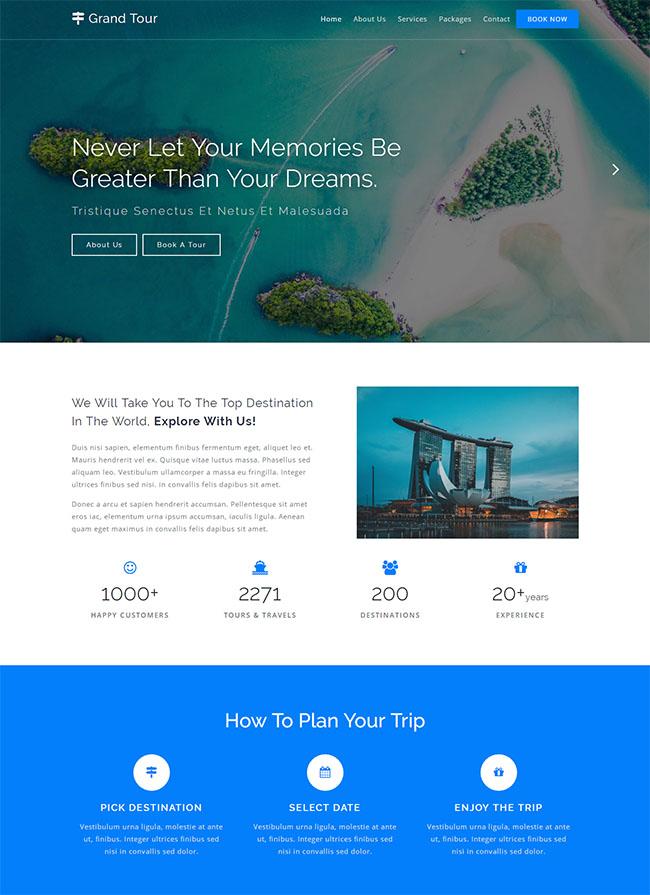旅游景点门票销售网站模板