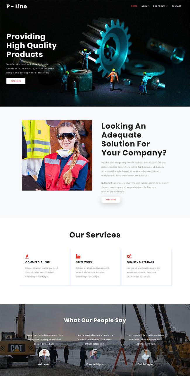 齿轮机械公司网站模板