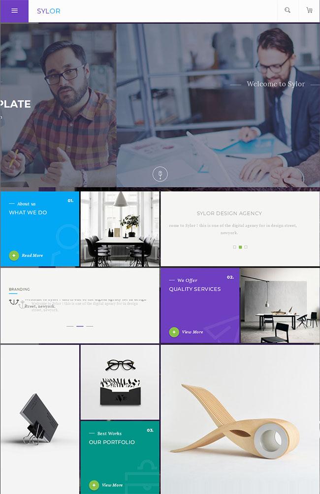 扁平设计企业网站HTML5模板