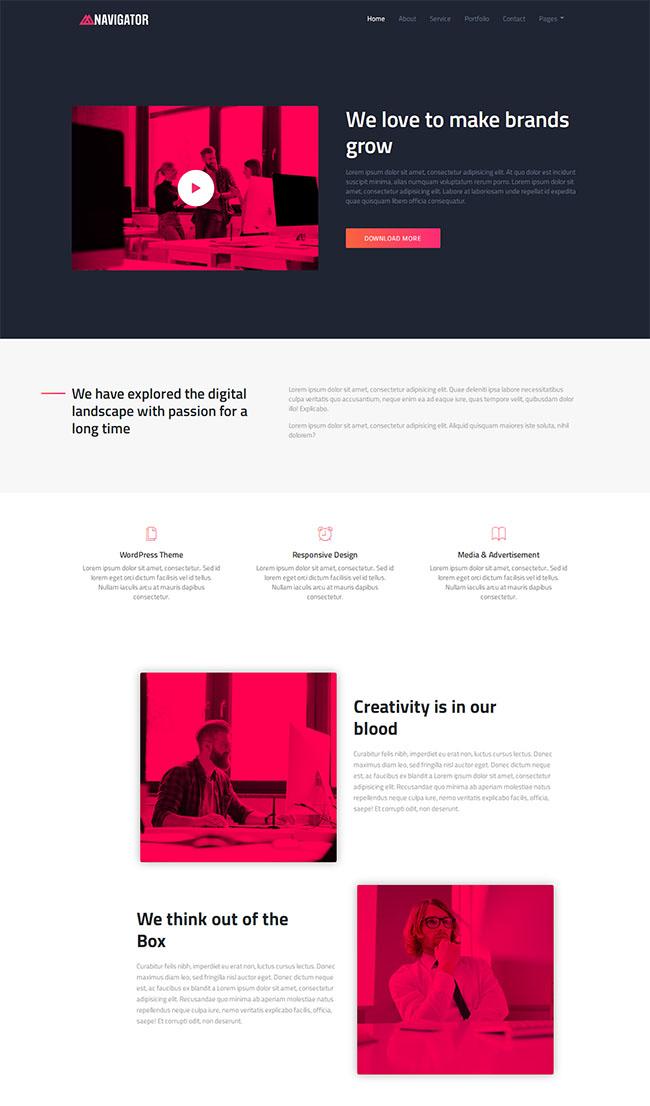 品牌设计网站建设官网模板