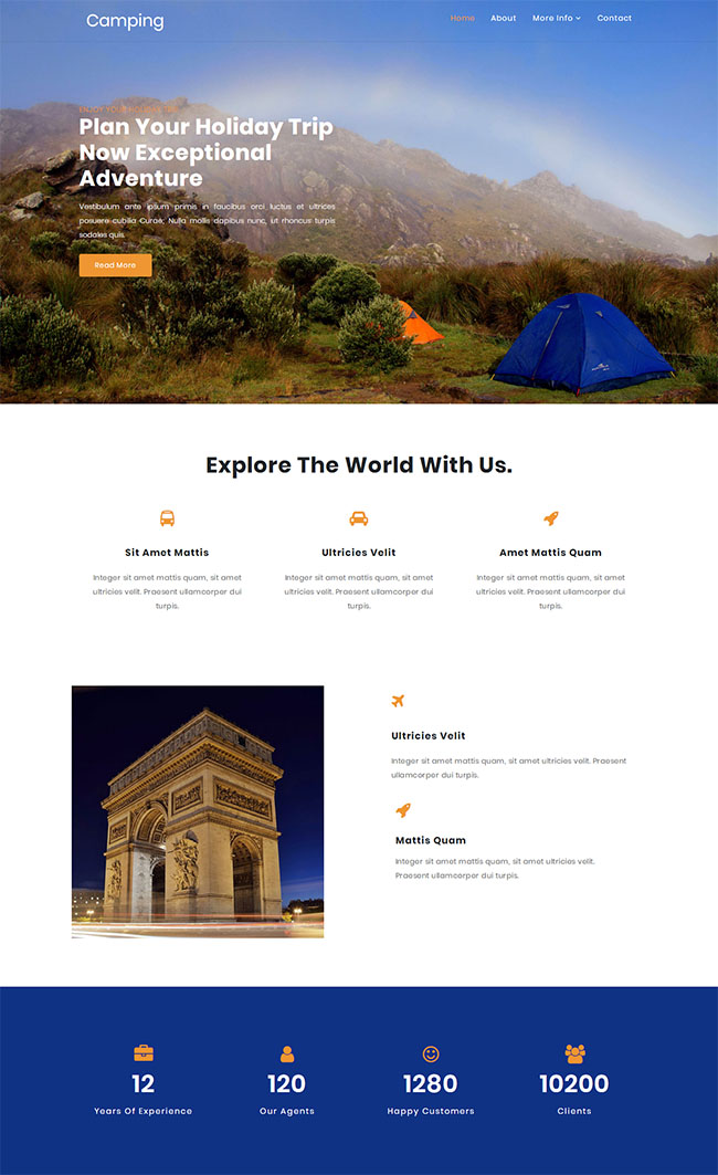 假日旅行景点介绍网站模板