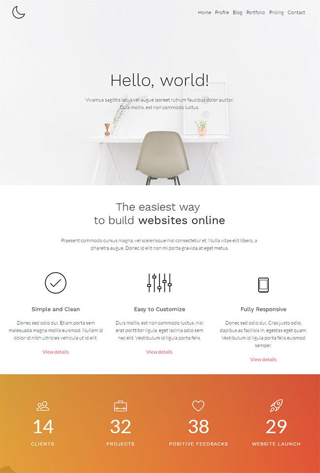 时尚家居设计公司HTML5模板