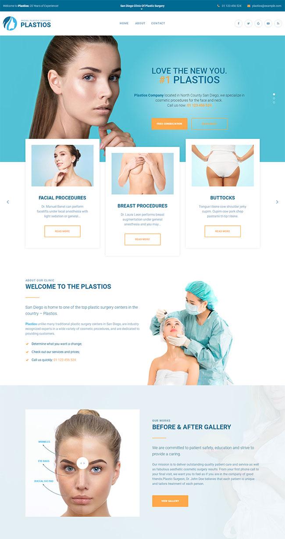 蓝色整形美容医院网站模板