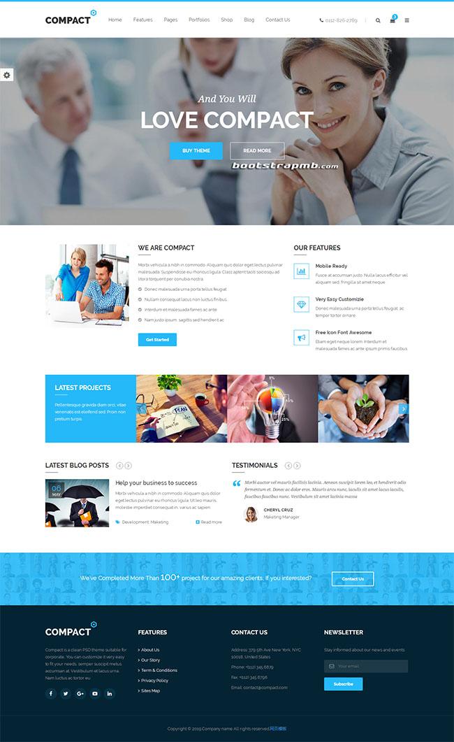 HTML5商务企业网站通用模板