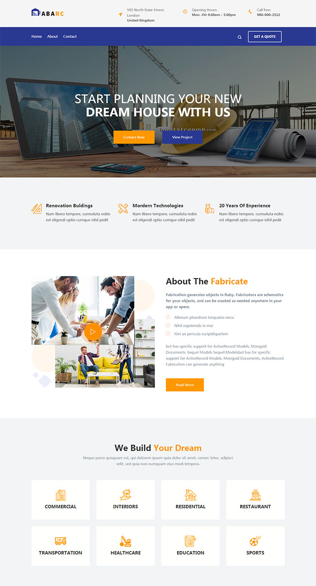 建筑与室内设计网站模板
