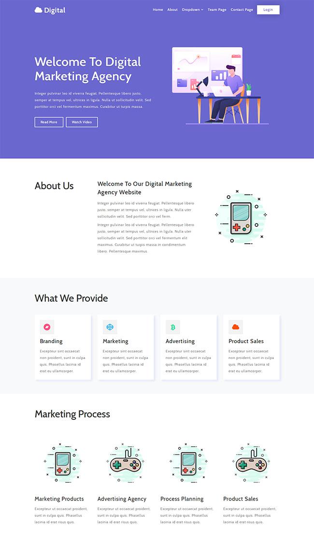 数字营销代理机构网站模板