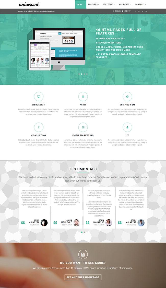 通用型企业集团网站模板