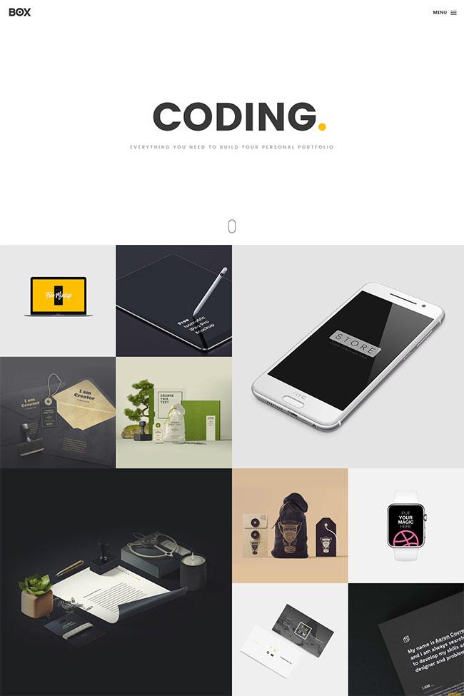 产品设计案例展示网站模板