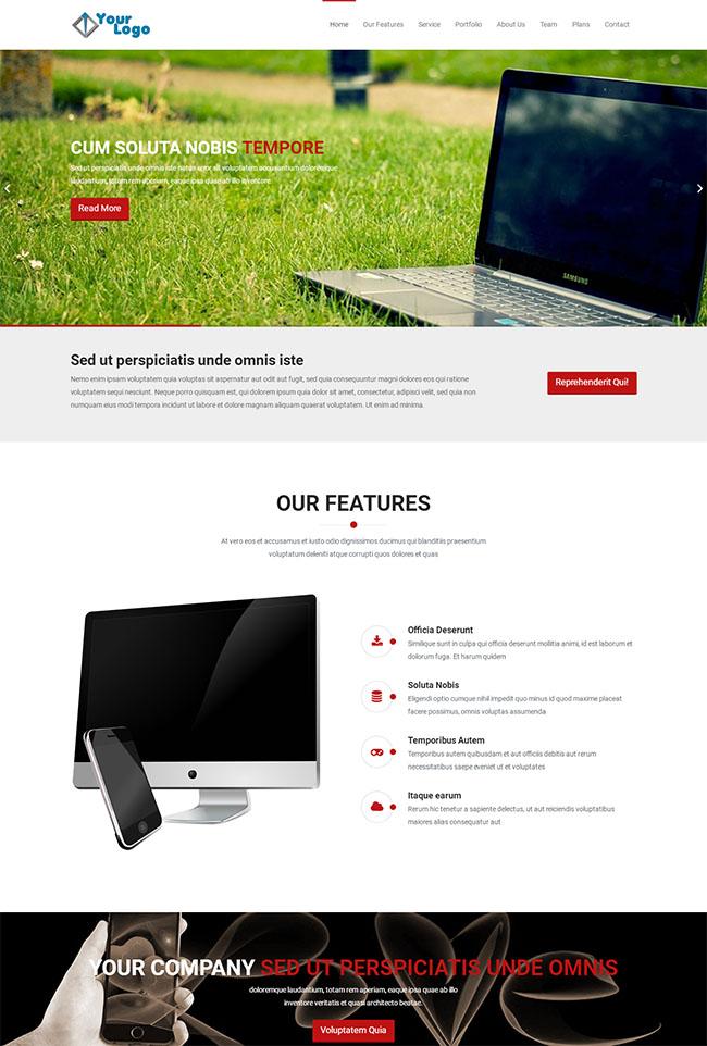 数码商品拍摄网站模板