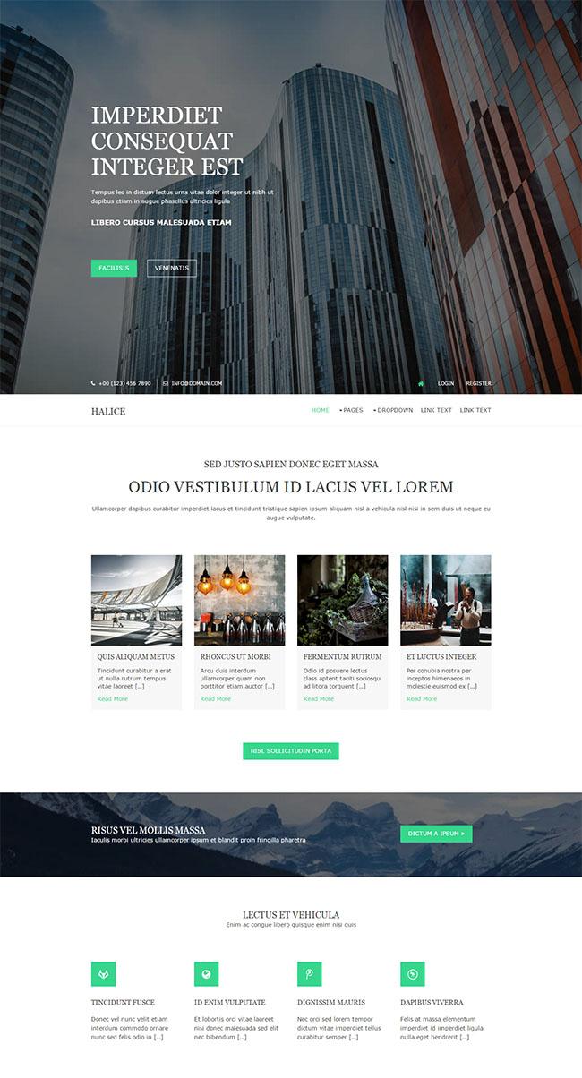 城市高楼建筑公司网站模板