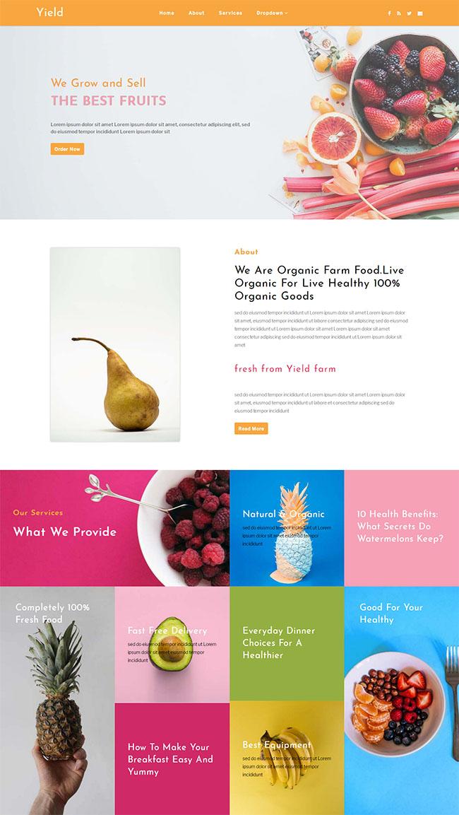 有机水果种植农业网站模板