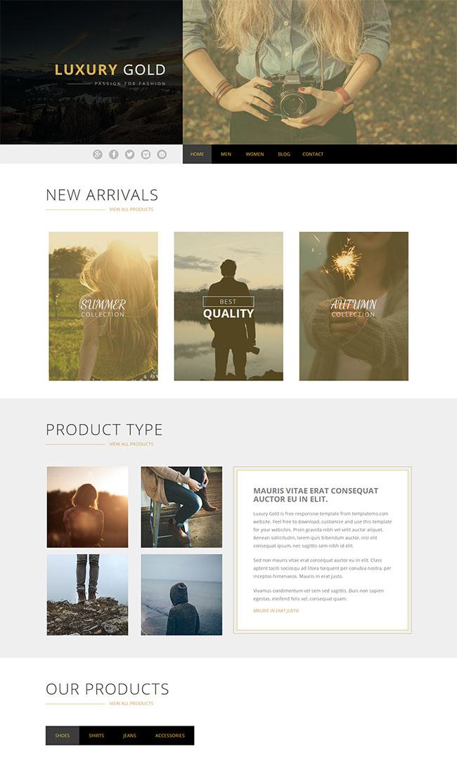 棕色拍照摄影师网站模板