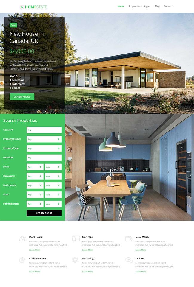 海外房产投资公司网站模板
