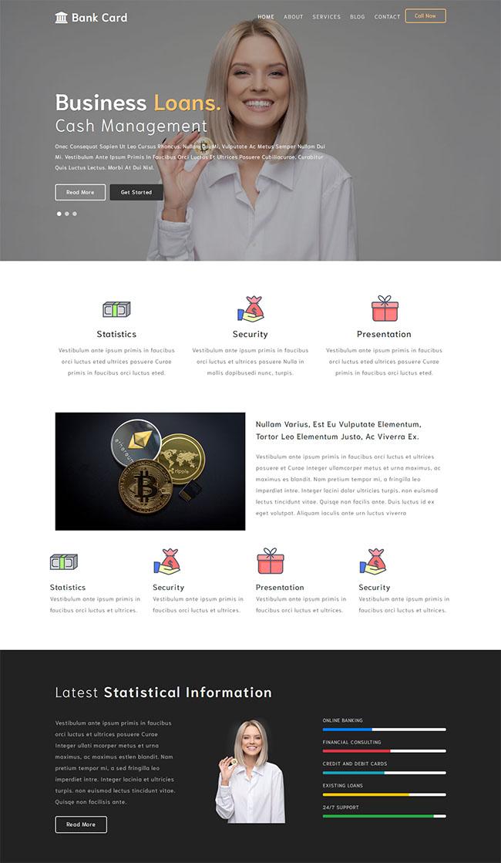 比特币金融机构网站模板