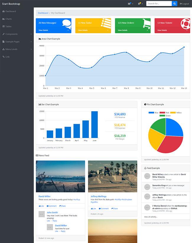 Admin后台管理系统网站模板