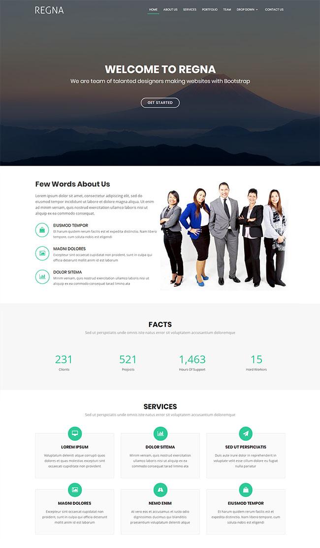 大气设计团队企业网站模板