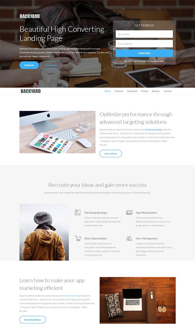 带登陆框设计类网站模板