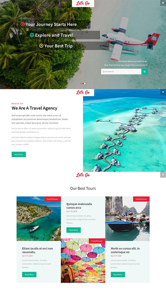 个人探索旅行HTML网站模板
