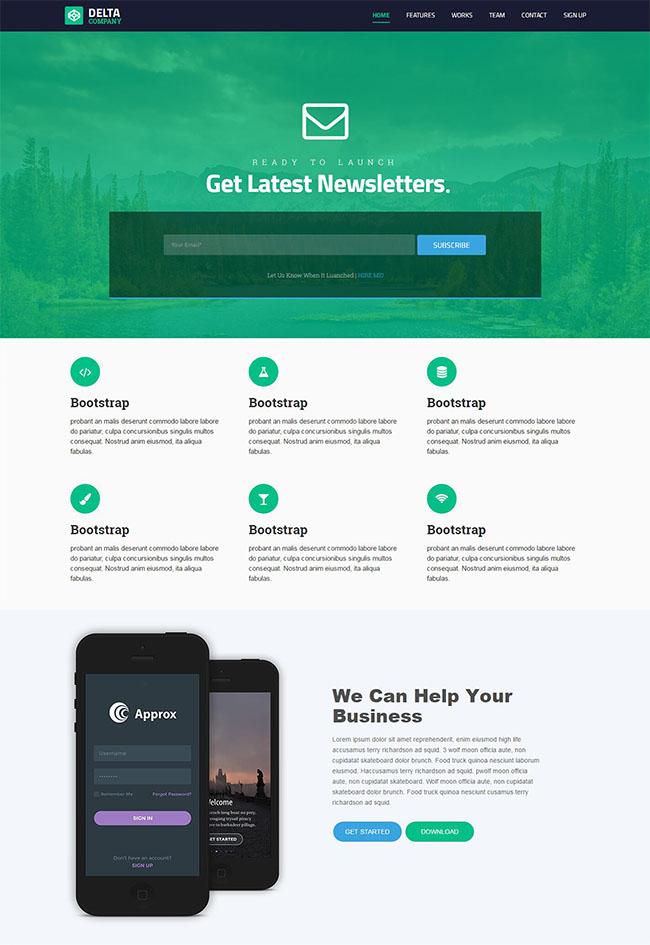 绿色插画UI设计师网站模板