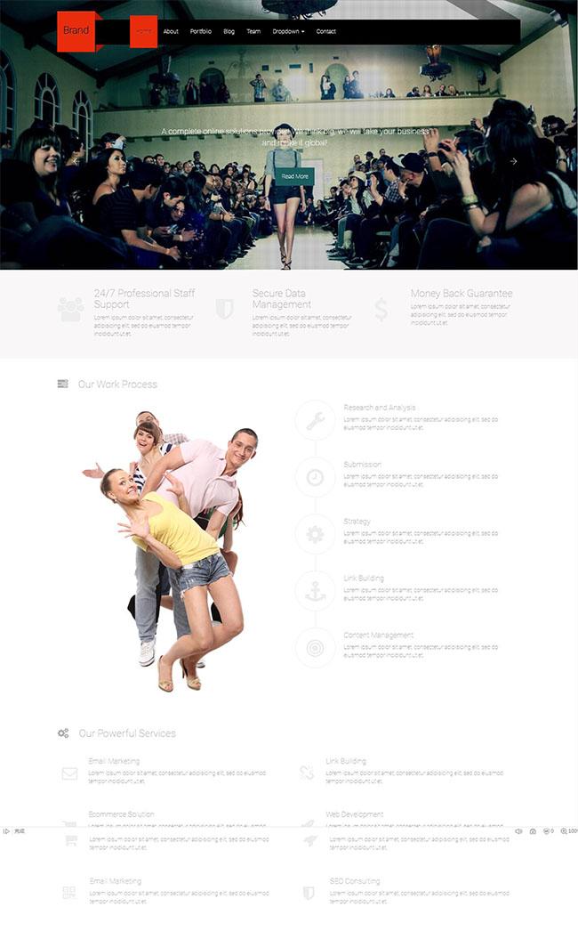 黑色品牌设计官网网站模板