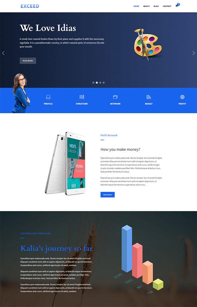 蓝色UI设计公司网站模板