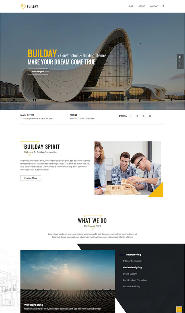 建筑设计公司网站HTML5模板
