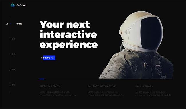 创意广告设计互动官网模板
