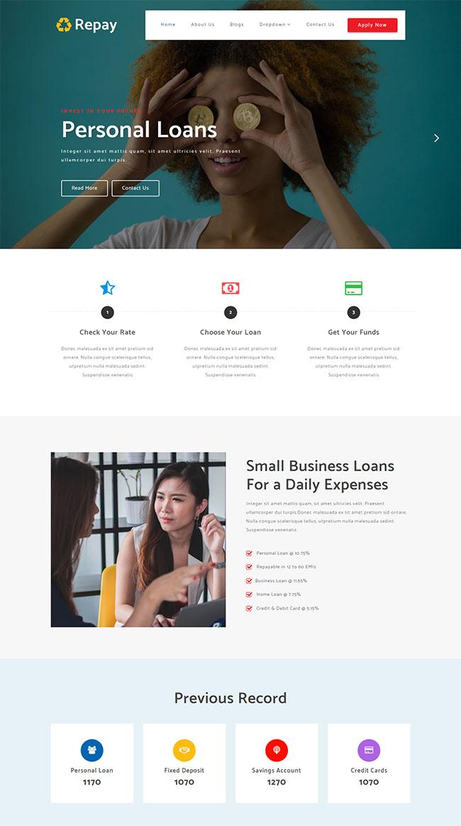 个人贷款投资网站模板