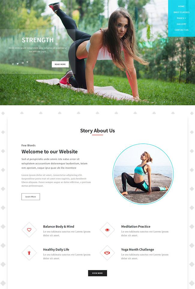 女性美体塑身网站模板