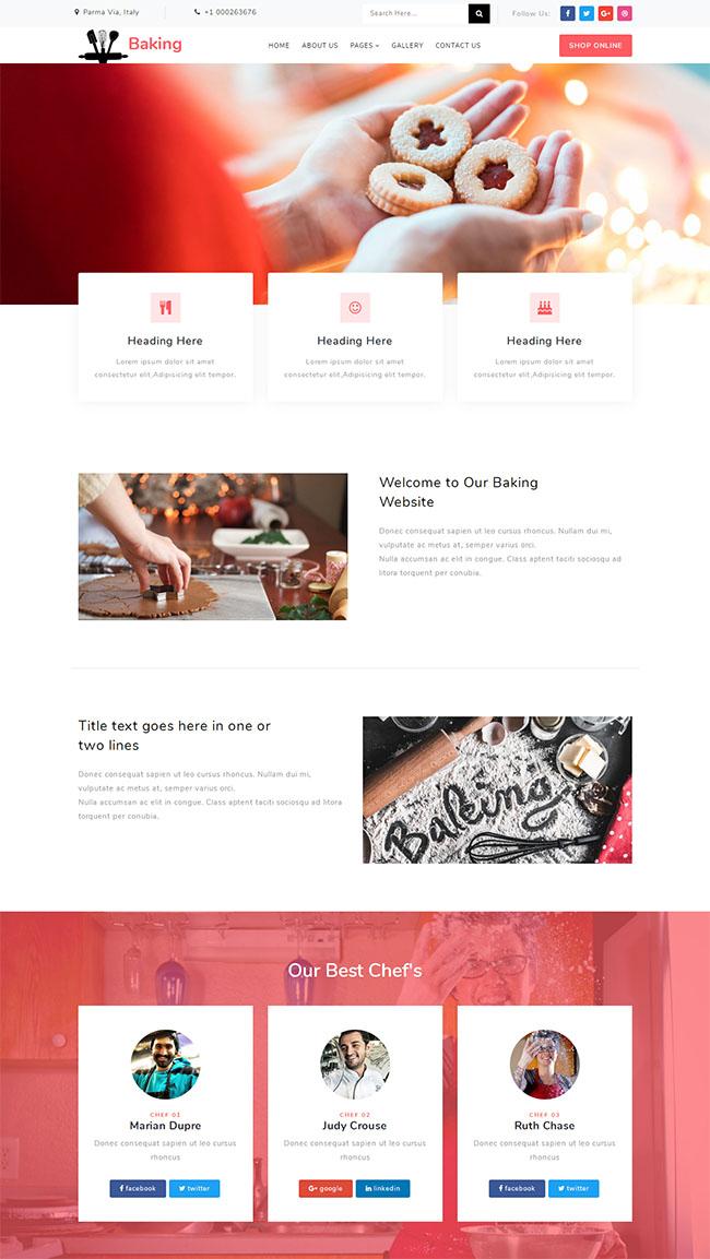 美食糕点制作网站模板