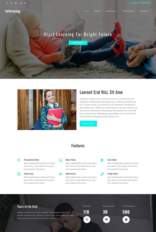 学习教育培训单页网站模板
